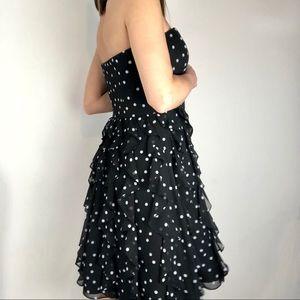 d4cc0837a86d8 White House Black Market Dresses - WHBM dress polka dot strapless ruffled  Sz 6 black